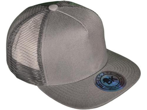 3b621b2adc4f5 ... Flat Bill Trucker Hats - 5 Panel SnapBack Mesh 2 Tone BK Caps (15  Colors ...