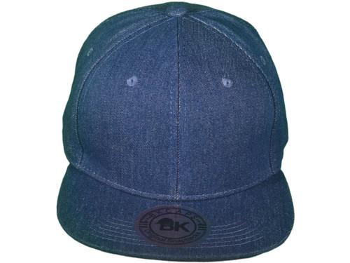 ... Flat Bill Blank Plain Snapback Hats - BK Caps Cotton With Same Color  Underbill ... ab216be258ca