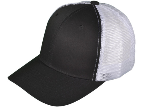 ... Blank Trucker Hats - Structured Cotton Mesh BK Caps (7 Colors  Available) - 5030 ... 7e58781228b