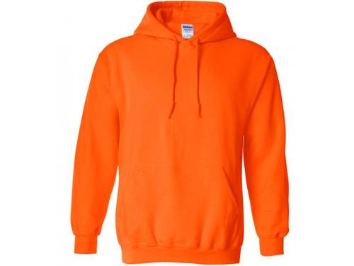 50 Gildan Heavy Hoodie Safety Green Adult Hooded Sweatshirts Bulk Wholesale S-XL