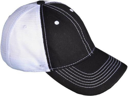 ... Contrast Stitching Trucker Hats - BK Caps Low Profile 6 Panel Brushed  Cotton (Black  7c9cdbd5050b