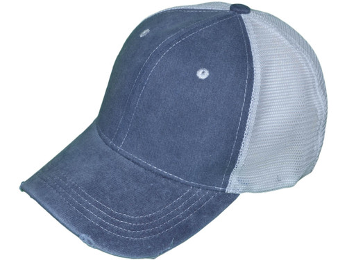 56789f853 Vintage Pigment Dyed Trucker Hats - BK Caps Low Profile Structured Brushed  Distressed Cotton Twill (10 Colors Available) - 5155