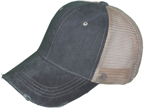 cd9e1a76e ... Vintage Pigment Dyed Trucker Hats - BK Caps Low Profile Structured  Brushed Distressed Cotton Twill ...
