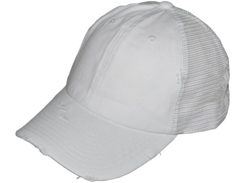 ... Distressed Trucker Hats - Unstructured Cotton Low Profile BK Caps (10  Colors Available) ... e94a432b4fa