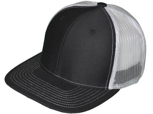 1b983331 Wholesale Flat Bill Trucker Hats - 6 Panel SnapBack Mesh 2 Tone ...