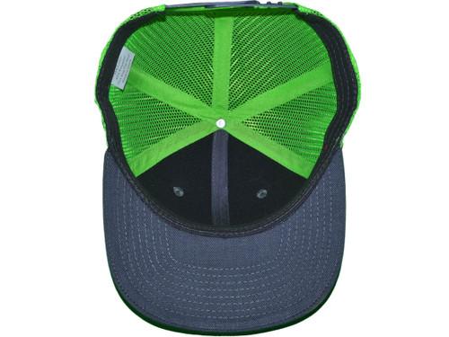 a1b67c65 ... Blank Trucker Hats - 6 Panel SnapBack Mesh 2 Tone BK Caps (19 Colors)  ...