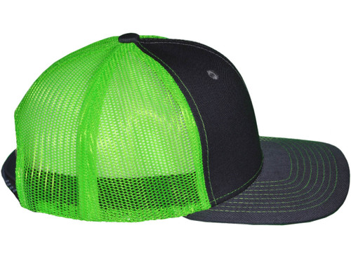 ... Blank Trucker Hats - 6 Panel SnapBack Mesh 2 Tone BK Caps (19 Colors)  ... 754dafcae26e