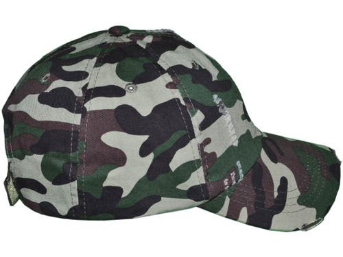 34030ff9182 ... Camo Vintage Dad Hats - Low Profile Unstructured Distressed Washed  Cotton Twill Polo BK Caps Velcro ...