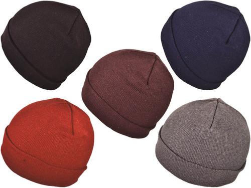 4ebeed2b712 Dozen Pack   Wholesale Winter Plain Beanies Knit Hat (Assorted Color ...