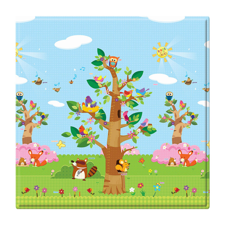 Birds in the Trees Medium Square Baby Care Playmat
