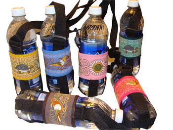 Details about  /Water Bottle Holder Made From Peruvian Fabric