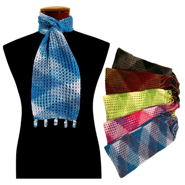 "Alpaca Peru Honeycomb Knit Scarf 9"" x 78"""
