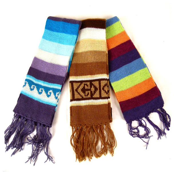 Children's Striped Alpaca Blend Scarf Assortment