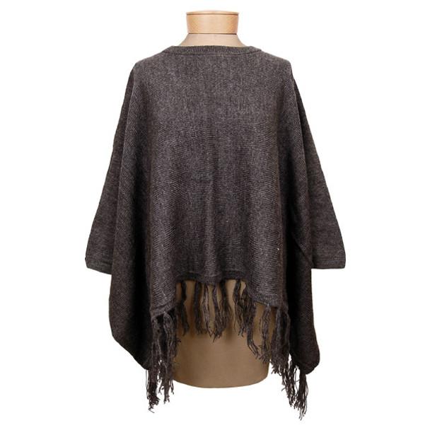 Alpaca Knit Poncho w/ sleeves