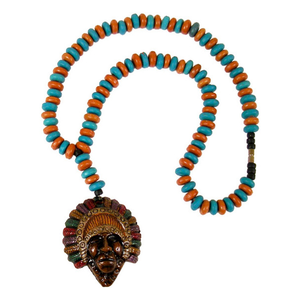 Clay Chief Beaded Necklace