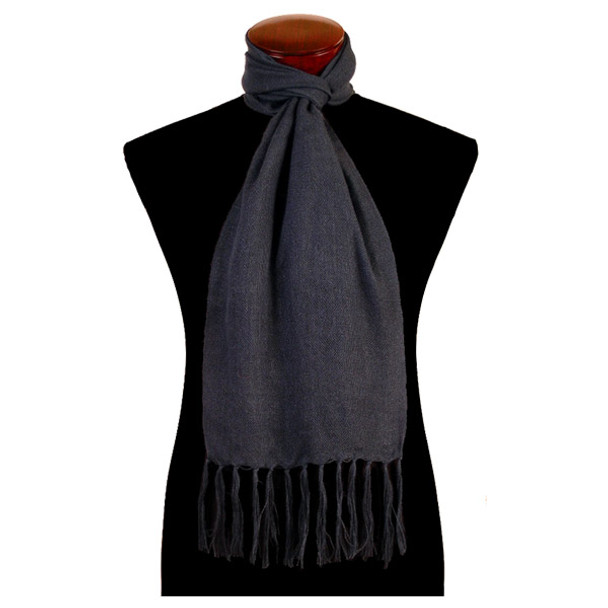Woven Solid Color 100% Alpaca Scarf Wide Hand Loomed