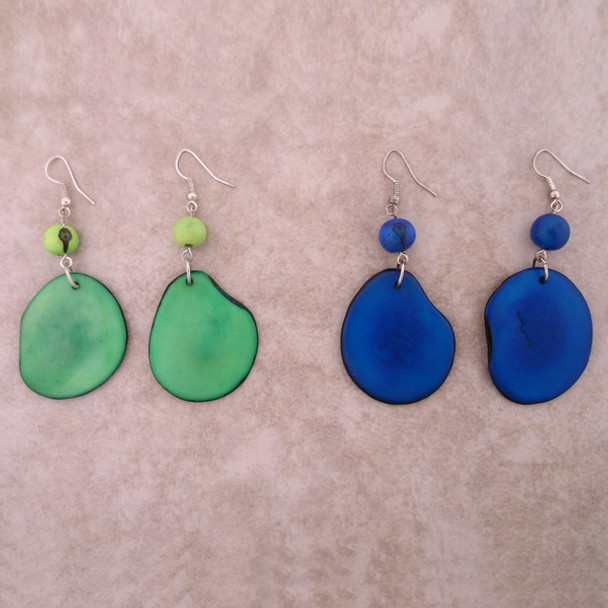 Amazon Tagua Chip Earrings - Large