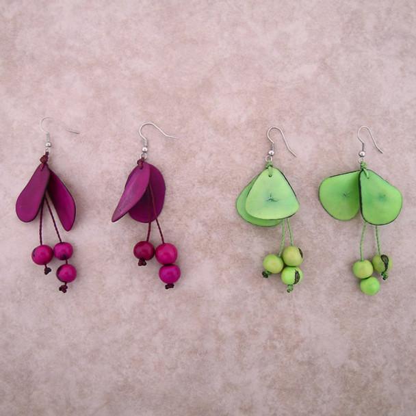 Amazon Tagua w/ Acai Seed Earrings