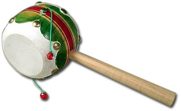 """Wooden Spin Drum Mexico Toy 3.5"""""""