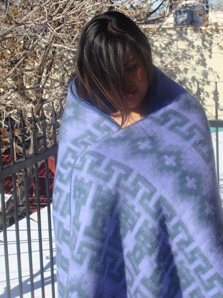 Lavender Genuine Alpaca Throw Blanket from Peru