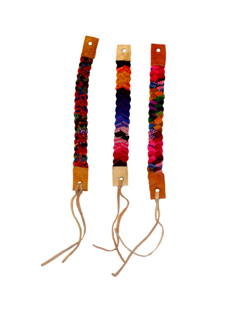 Cotton and Leather Hand Made Friendship Bracelet
