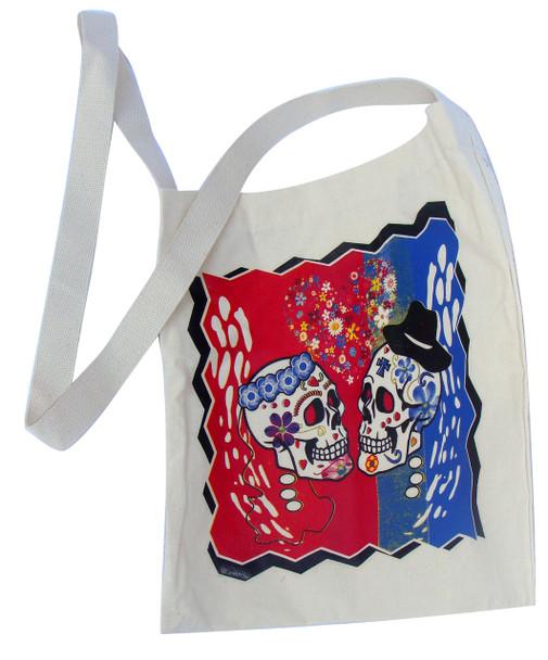 Canvas Sugar Skull Tote Style 6 Calavera Skull tote bag Day of the Dead tote bag Sugar Skull bag, Skull bag, la muerta bag, Library bag, Reusable shopping bag,