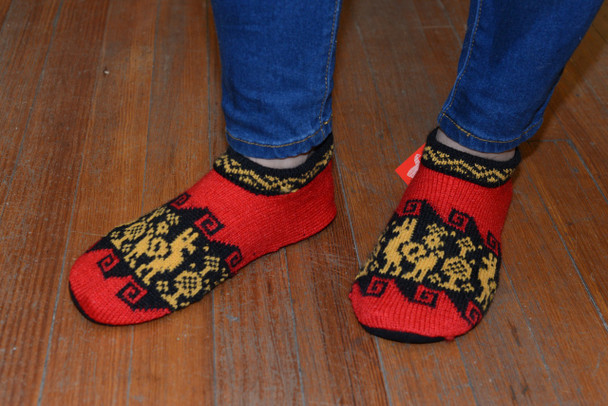 Alpaca Blend Booties Slippers House Shoes Knit 50% Alpaca 50% Acrylic