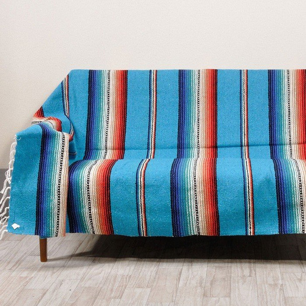 Serape Uses are Endless. Throw, Table Cover, Car Seat Cover, Chair Cover, Bedspread, Dia De Los Muertos (Day of the Dead) Altar Cover.