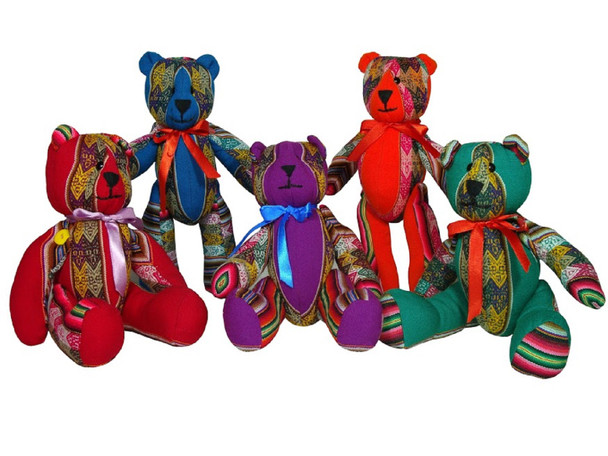 Baby shower Teddy Bears Photo Session Babies Plush Artisan Hand Made Fabric 15""