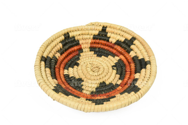 """Wedding Basket Palm Woven Mexican 4"""" Traditional Designs"""