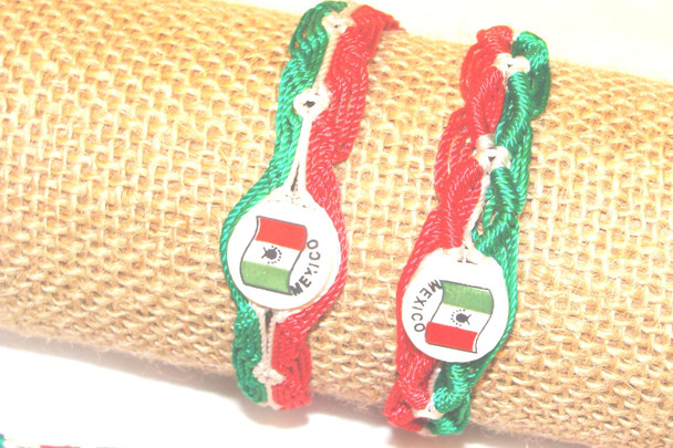 Friendship Bracelets Mexico Flag Wide Lot Mix Bracelet Handcrafted in Mexico Pack of 10 Bag Assorted