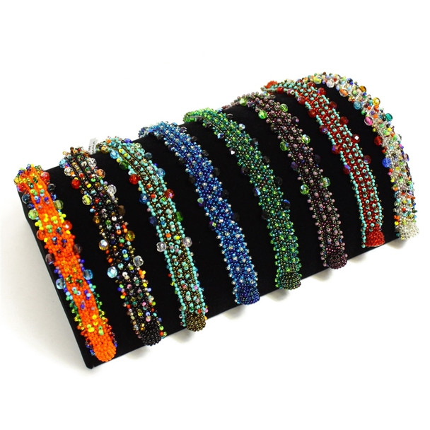 Beaded Crystal Wrap Bracelet with Magnetic Closure Wholesale Price Sanyork Fair Trade