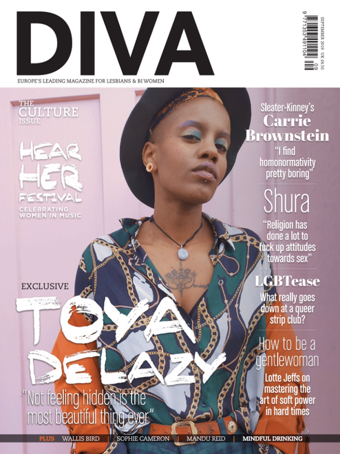 DIVA Magazine September 2019 - Toya Delazy cover