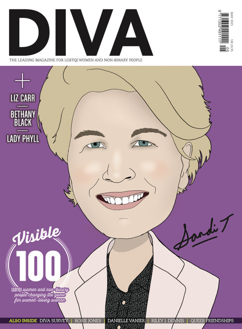 "Out just in time for Lesbian Visibility Week, this extra special issue of DIVA boasts not one, not two, but four iconic cover stars, lovingly illustrated by Kate Holderness. Choose your fave or collect them all! Pre-order this version to secure your limited edition copy of DIVA with broadcasting legend and ""National Trevor"", Sandi Toksvig, on the cover.  Also in this issue...  The Visible 100: LGBTQI women and non-binary people changing the game for women-loving women  DIVA Survey 2021: The results you need to read  Rosie Jones: ""I hope that people will watch and go, 'If Rosie can do it, I can do it'""  Dear chosen fam: A love letter to queer friendships  Danielle Vanier talks coming out in her 30s and finding her forever love  The porn report: We investigate the pandemic porn boom and reveal the best hot, ethical, queer smut  Riley J. Dennis on the life-changing magic of trans lesbian visibility  PLUS: Staycations, sexy bits and so much more!  PRE-ORDER YOUR COPY NOW!"