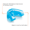 Shock Doctor Braces Ortho Clear Blue Mouthguard (Adult + Youth)