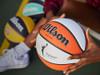 White and Orange basketball