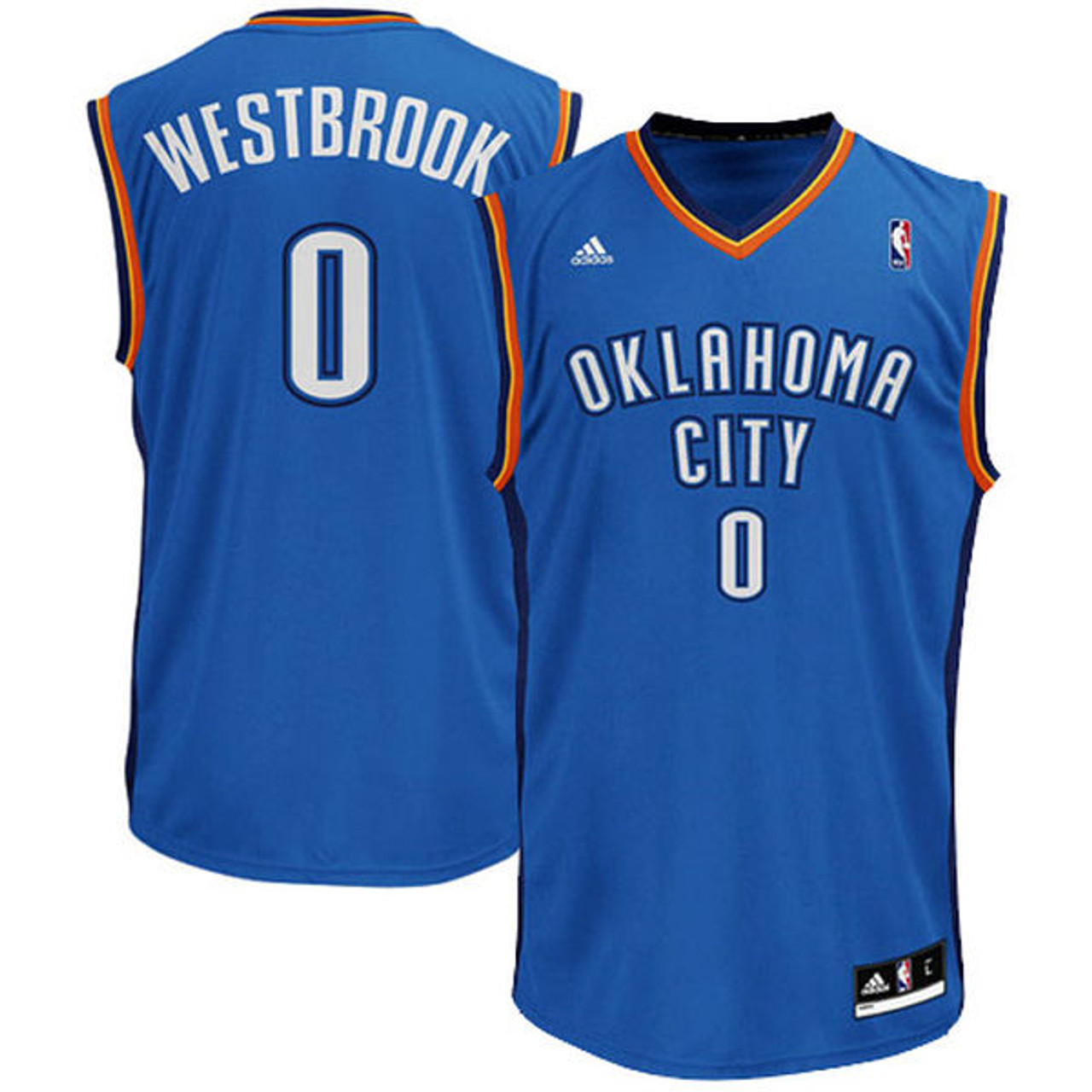 new product 77b2e 97b78 Adidas Russel Westbrook OKC Thunder (Away) Youth Jersey