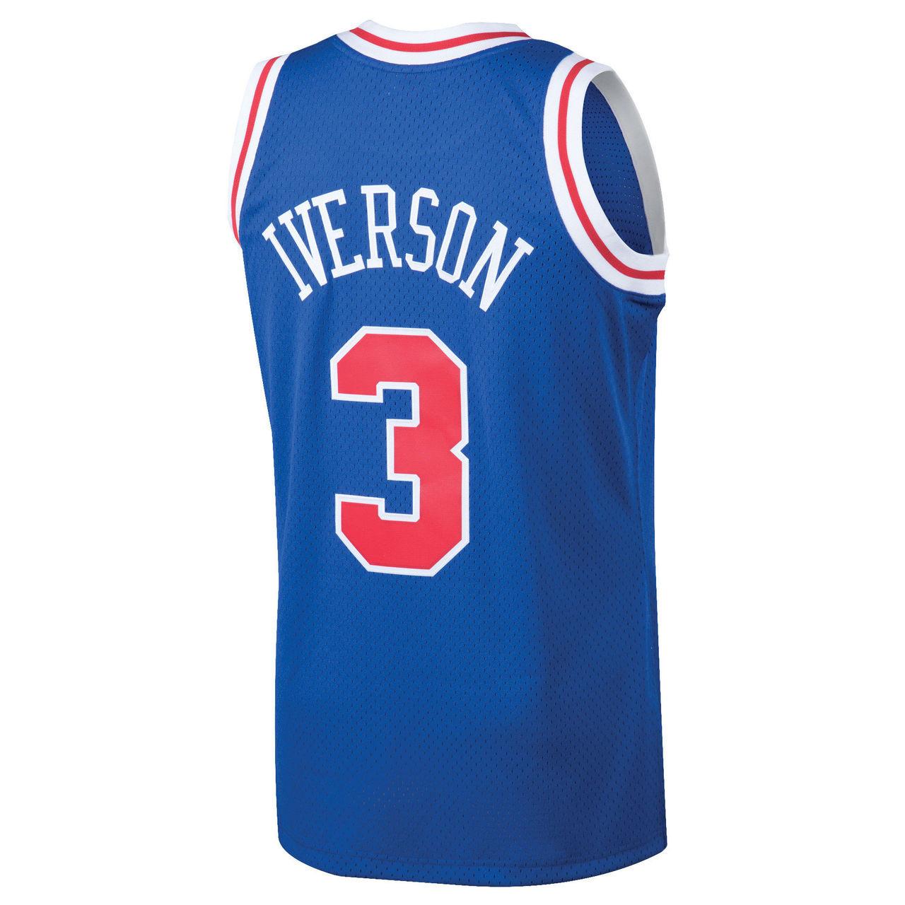 online store d76cb 2a8d6 Allen Iverson Philadelphia 76ers Mitchell & Ness 1996-97 Hardwood Classics  Swingman Jersey - Royal
