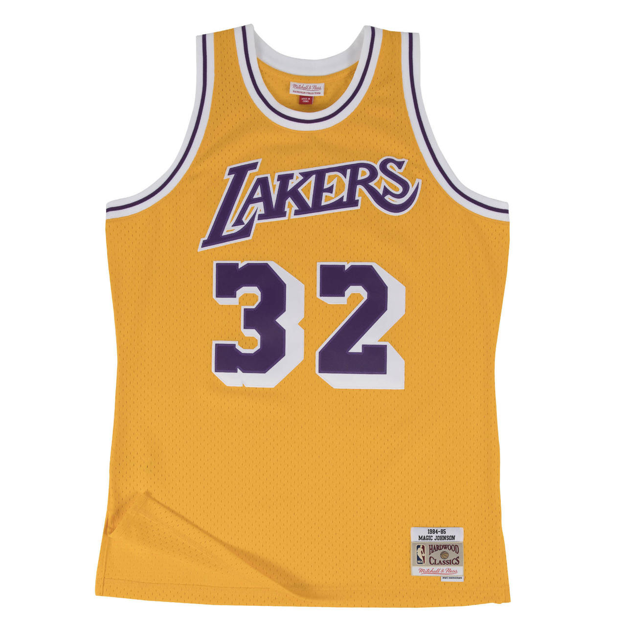 9d81924d0 Magic Johnson Los Angeles Lakers Mitchell   Ness 1984-85 ...