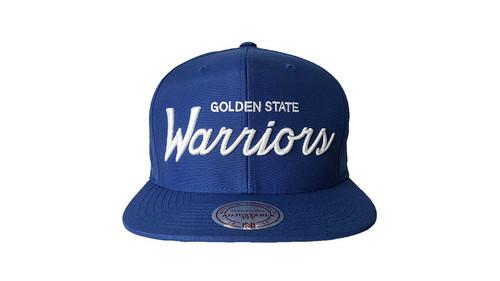 Mitchell & Ness Golden State Warriors Blue Snapback