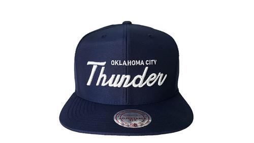 Mitchell & Ness Oklahoma City Thunder Blue Snapback