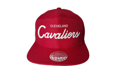 Mitchell & Ness Cleveland Cavaliers Red Snapback