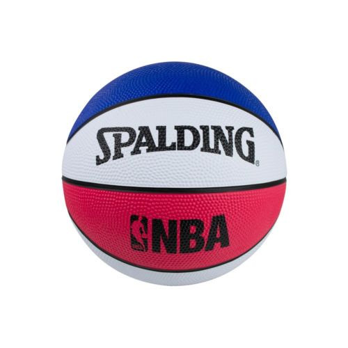 Spalding Mini Size 3 Blue Red White Mini Basketball
