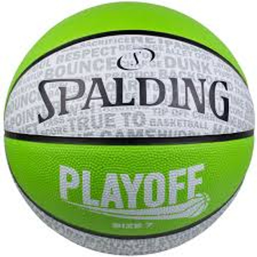 Spalding Playoff Size 6 Green Basketball