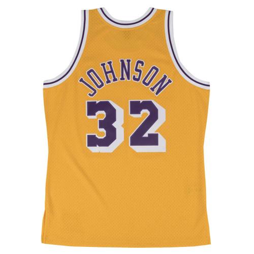 Magic Johnson Los Angeles Lakers Mitchell & Ness 1984-85 Hardwood Classics Swingman Jersey - Gold
