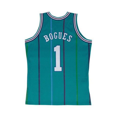 Muggsy Bogues Charlotte Hornets Mitchell & Ness 1992-93 Hardwood Classics Swingman Jersey - Teal
