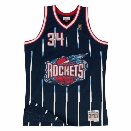 Hakeem Olajuwon Houston Rockets Mitchell & Ness 1996-97 Hardwood Classics Swingman Jersey