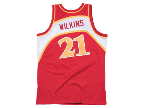 Dominique Wilkins Atlanta Hawks Mitchell & Ness 1986-87 Hardwood Classics Swingman Jersey - Red