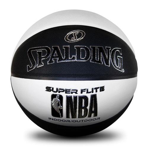 Spalding NBA Super Flite Black/White Basketball - Size 7