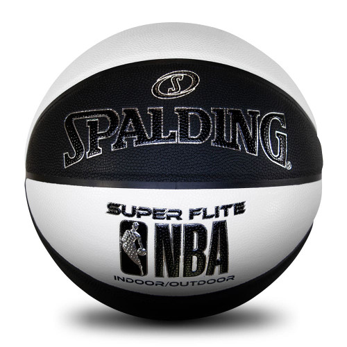 Spalding NBA Super Flite Black/White Basketball - Size 7